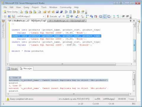 SQL Basics: Table creation and inserting data