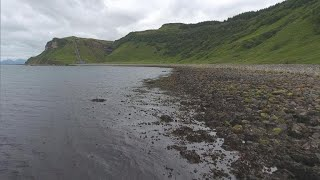 Searching for dinosaur fossils in Scotland