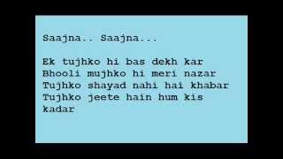 Saajna! by Falak with Lyrics