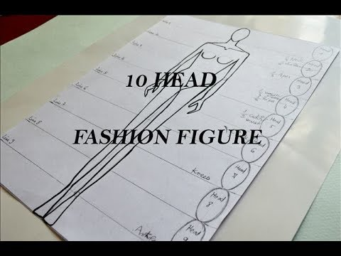 Fashion Figure for beginners| 10 Head Technique