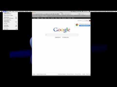 Setting home page in Safari browser