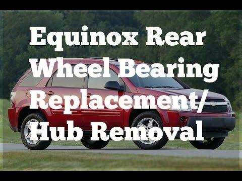 How To: change rear hub / wheel bearing on a Chevrolet Equinox.