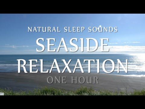 Sleep Sounds Seaside Relaxation 1 Hour - White Noise Ocean Waves (Meditation, Sleeping, Study, Yoga)