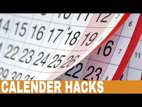 Calendar Hack - Life Hacks