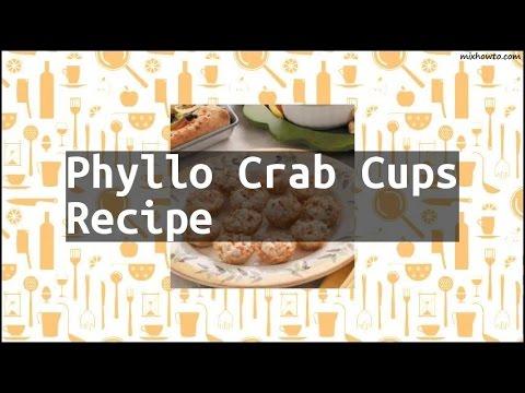 Recipe Phyllo Crab Cups Recipe