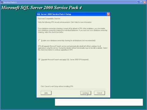 01- Insttaling Microsoft SQL Server 2000 and SPK4.avi