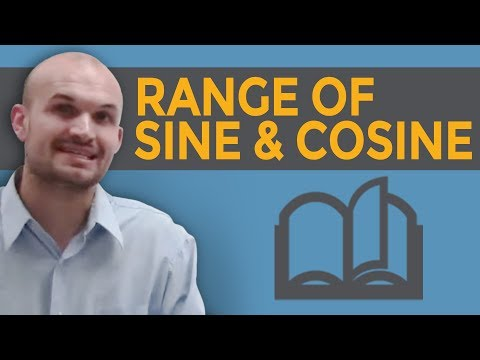 How to find the range of the sine and cosine graph
