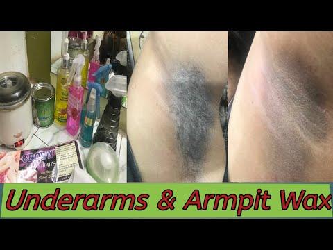 Underarms & Armpits wax/How we clean Dark Underarms/ wax कैसे करें Seema jaitly