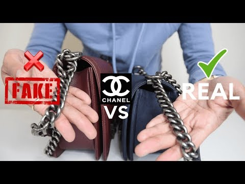 CHANEL SUPER FAKE VS  REAL CHANEL BOY BAG: A COMPARISON  PART 2