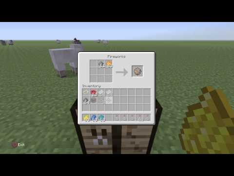 How to Make a Firework (Minecraft PS4)