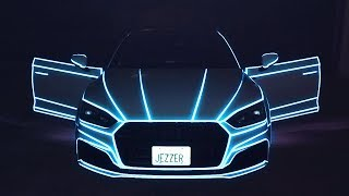 2HYPE REACTS TO NEW TRON LIGHTS ON MY CAR!!