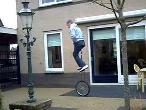 Me Runningmount a 5 foot unicycle