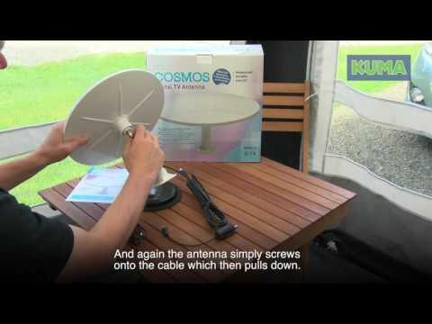 Kuma Magnetic TV Aerial Setup Guide Caravan| Omni Directional Antenna Setup for Motorhome
