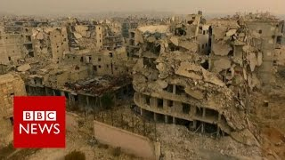 Aleppo 'haunted by violence and death' - BBC News