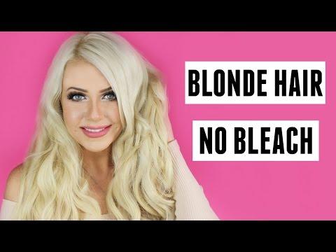 BLONDE HAIR WITH NO BLEACH TUTORIAL - DIY AT HOME - NO HAIR DAMAGE