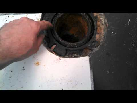 How To Remove Broken Toilet Flange That Is Surrounded By Lead On Cast Iron Plumbing