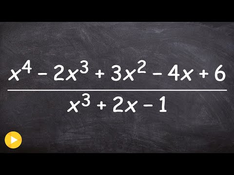 How to divide a trinomial into a polynomial using long division