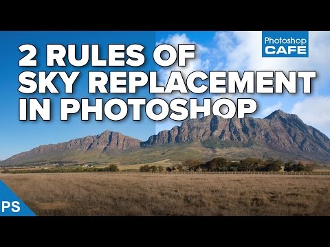 Replace sky and add clouds in photoshop tutorial