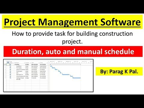Project Management Software (PART-1) Task assign, Assign duration and time for the Building.