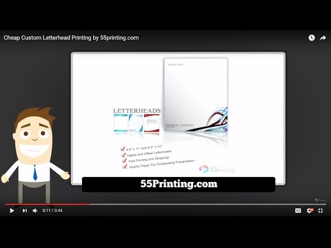Cheap Custom Letterhead Printing by 55printing.com