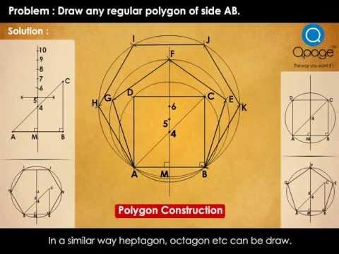 Basic Construction of Regular polygon