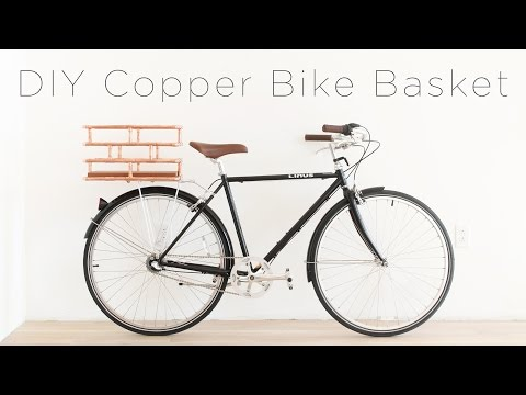 DIY Copper Bike Basket
