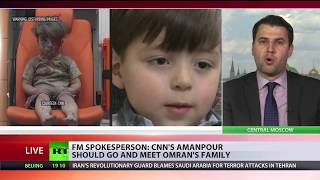 'Media used my son for their purposes': CNN's Amanpour challenged to go talk to 'Aleppo boy'
