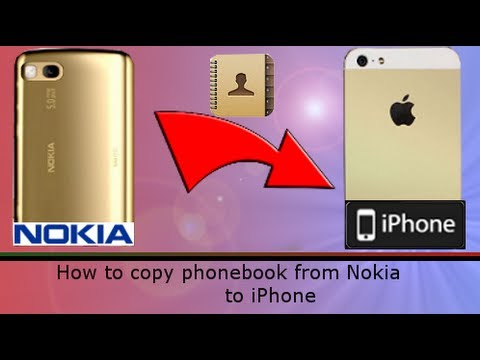 [How to] copy Nokia contacts into iPhone