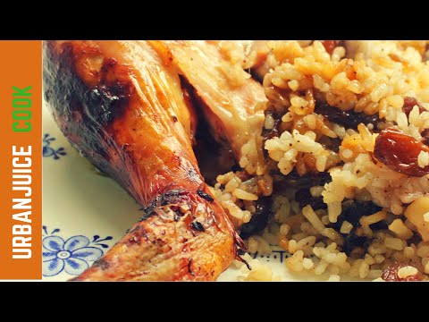 Whole Roast Chicken with rice stuffing recipe