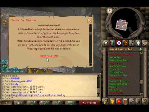 One of the First People to Achieve Barrows Gloves in 07 scape