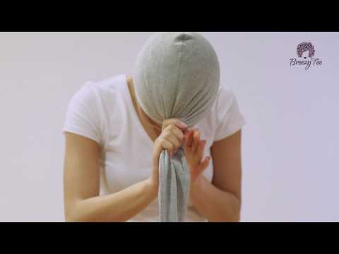 How to tie Breezy Tee t-shirt hair towel wrap
