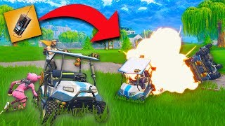 PUTTING C4 ON GOLF KARTS! *THIS IS AMAZING!* | Fortnite Battle Royale