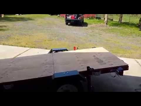Harbor Freight Folding Trailer Build Part 3 - Plywood Deck Install