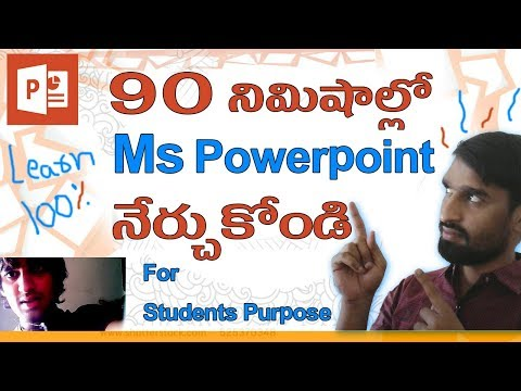 Ms Powerpoint Complete Course Learn Within 90 Minutes in Telugu | Ms Office 2016