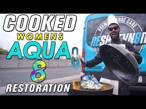Cooked Women Jordan Aqua 8 Restoration by Vick Almighty