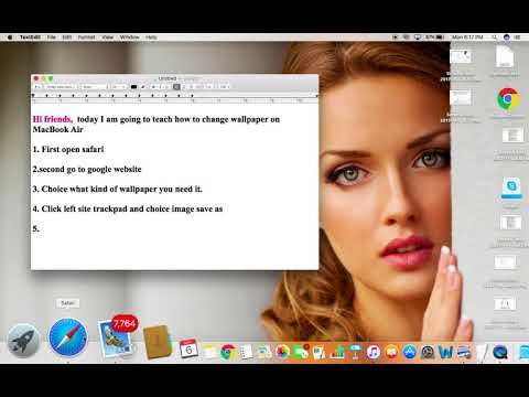 how to change wallpaper on macbook air