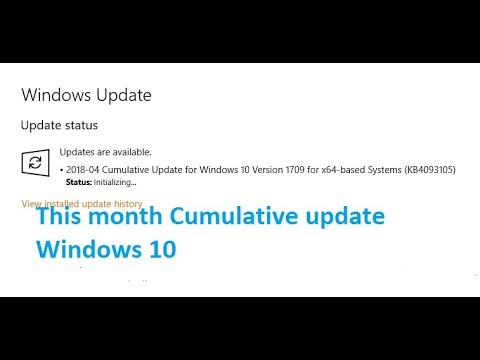 Cumulative update for windows 10 version 1709 for x64 based systems KB4093105