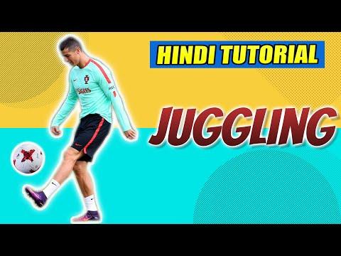 HOW TO JUGGLE FOOTBALL -  IN HINDI