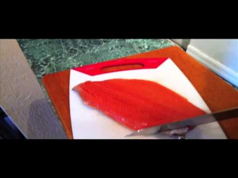 How To Skin and Marinade A Salmon Filet