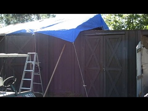 20161022 Vlog - Putting the Tarp on the Roof
