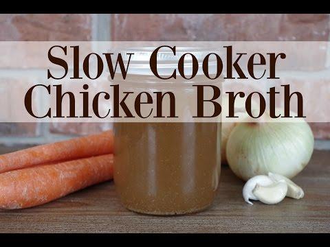Slow Cooker Freezer-Friendly Chicken Broth