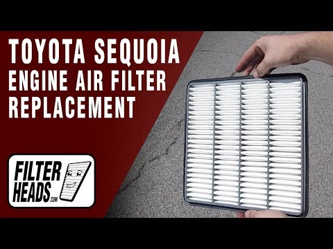 How to Replace Engine Air Filter 2011 Toyota Sequoia V8 5.7L