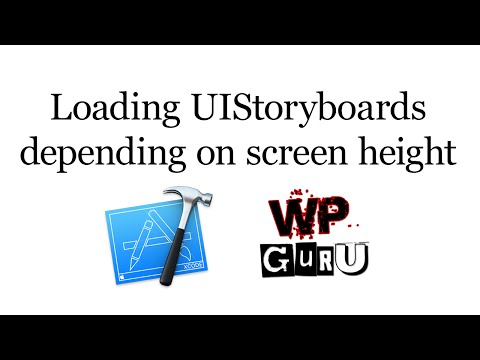 How to load different storyboards depending on iOS screen height