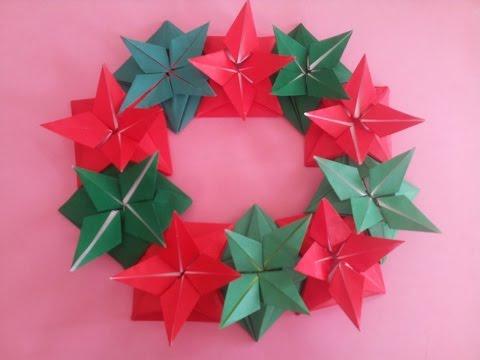 Origami flower bell Christmas -making flower for Christmas-make grown flower