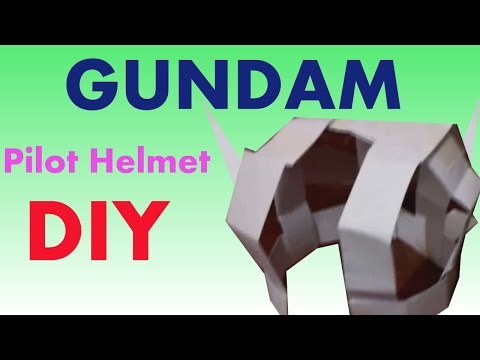 How to make a Gundam Pilot Cosplay Helmet Tutorial DIY