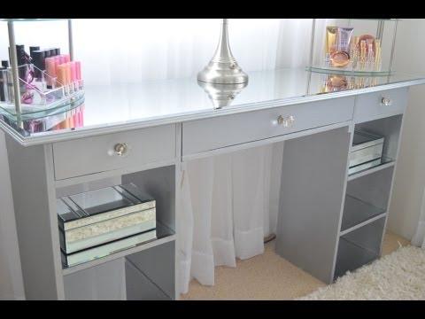 DIY Mirrored Vanity
