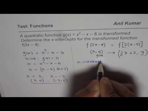 How to Find X Intercepts for Transformed Functions