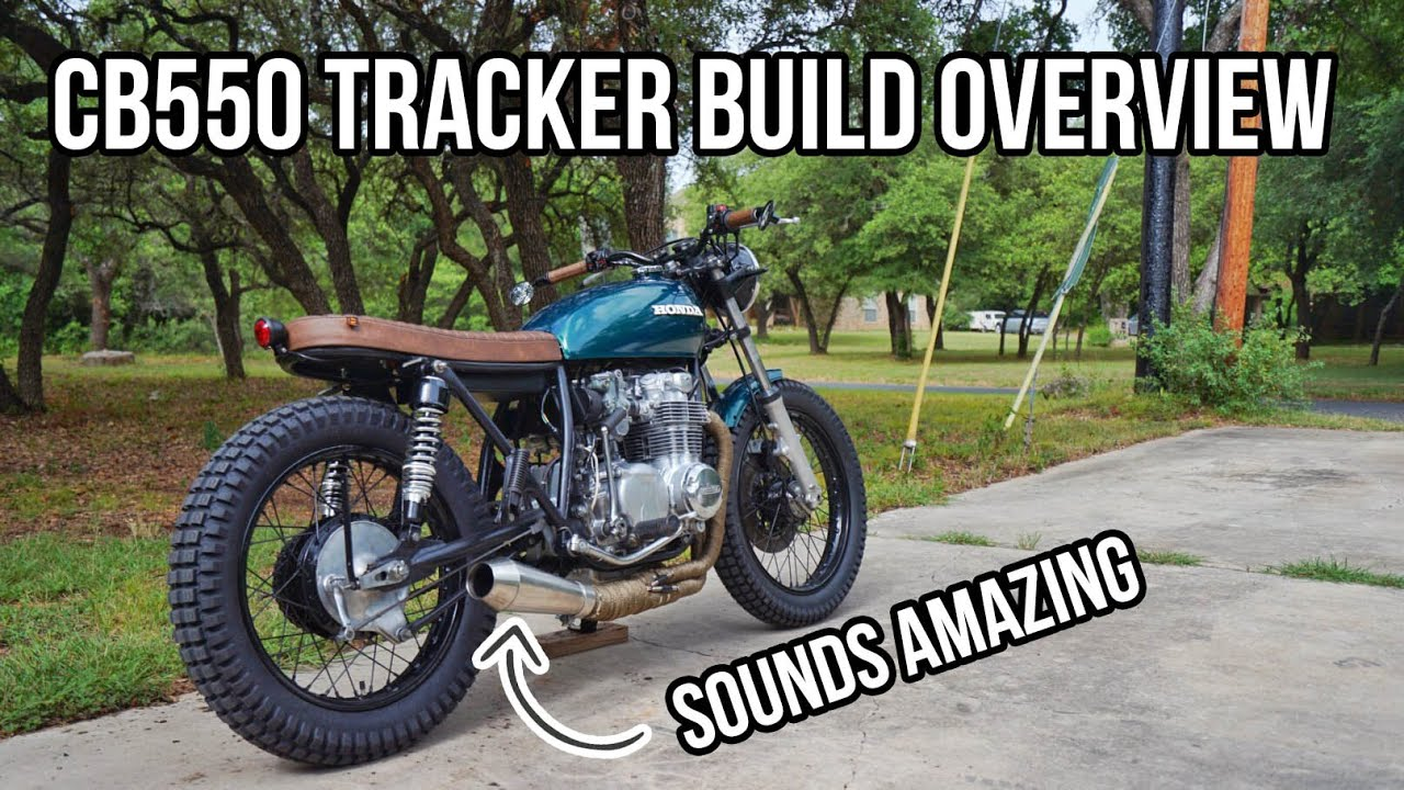 Honda CB550 tracker build overview
