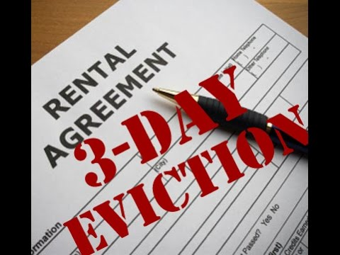 3 day eviction notice is actually a 7 day notice.