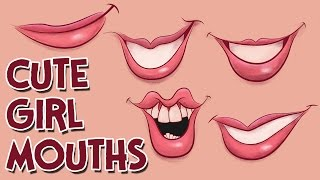How To Draw Cute Girl Cartoon Mouths